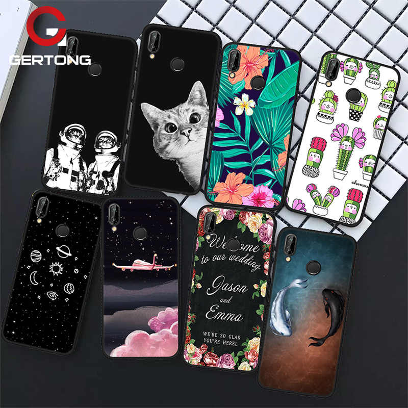 GerTong Silicone Soft TPU Fundas P20 Cute Cat Phone Cases For Huawei Honor 9 Lite P8 P9 P10 P20 Lite Mate10 Pro Case Cover Coque