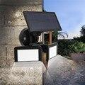 Водонепроницаемый двойной головкой 48LED Солнечный настенный светильник сенсор открытый сад пейзаж лампа Энергосберегающая солнечная батар...