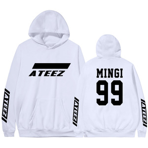 Image 5 - Kpop Ateez Sweatshirts Fake Two Pieces Hoodies Fashion Printed Pullover