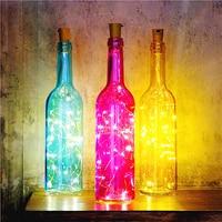 Smart New Colorful wine bottle with Bright led wine bottle cork string light for KTV Bar DIY wedding party decorations