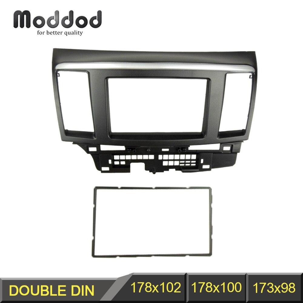 Doppel Din Fascia für Mitsubishi Lancer Fortis Radio DVD Stereo-Panel Dash Montage Installation Trim Kit Gesicht Rahmen