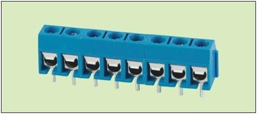 Высокий уровень 100 шт. по ограничению на использование опасных материалов в производстве KF301 5,0 мм Американская классификация проводов 2р 3 P прямой для ремонтных работ Сделай Сам 300 V 16A PCB Универсальный винтовой Клеммник разъем синий