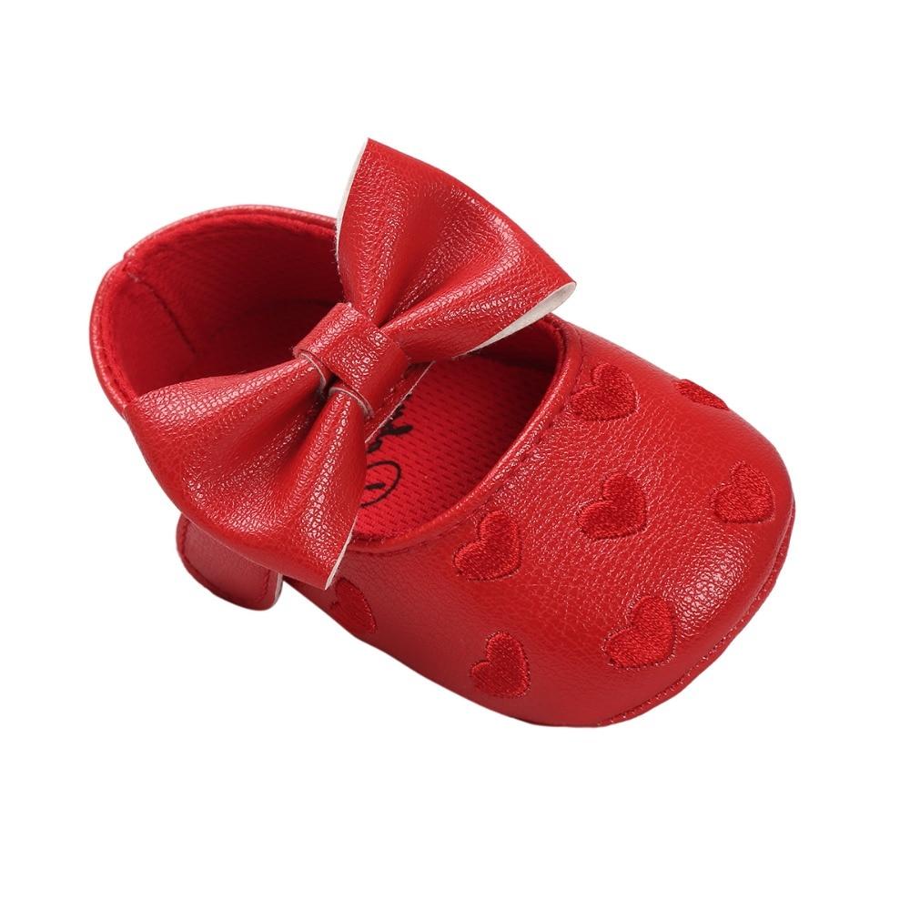 2017 m. Raudona karšta naujagimio princesė mielos mokasinų merginos kūdikių batai 0 ~ 18 mėnesių CX50C