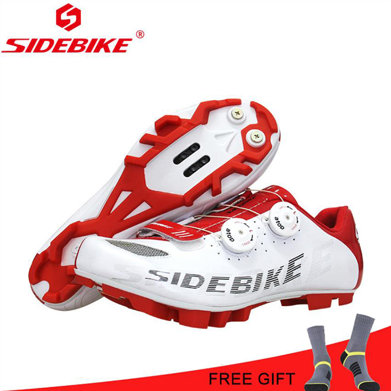 SIDEBIKE Moutain Cycling Shoes Men White Breathable Non slip mtb Shoes Self Locking sapatilha ciclismo Racing