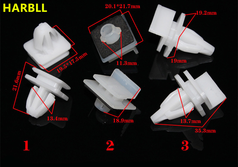 HARBLL 6PCS Under the door skirt low-side edge of the beam board clip sub-buckle for Honda Accord Civic Fit F6 plastic fasteners