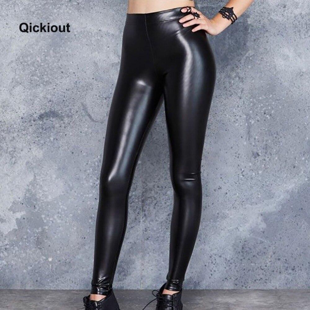 Qickitout mode sexy femmes leggings En Cuir pantalon soild noir hot pants sexy costumes pour chaude club porter des choses plus étranges