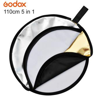 GODOX 43 #8222 110cm fotografia multi-disc 5 w 1 oświetlenie do fotografii składany reflektor na błyskanie studyjne tanie i dobre opinie 43 110cm ROUND