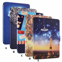 Besegad  Waterproof Painting Pattern PU Leather Protector Case Skin Cover Shell Sleeve Holder for Amazon Kindle Paperwhite 1 2 3