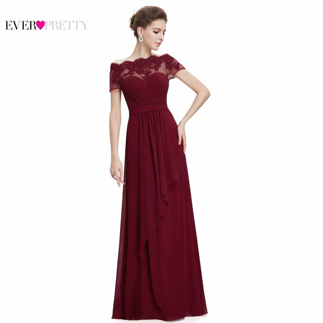 d3ddc61150c Burgundy Prom Dresses 2018 New Arrival EP08490 Women Boat Neck Royal Blue  Lace Red Plus Size Long Chiffon Prom Dresses
