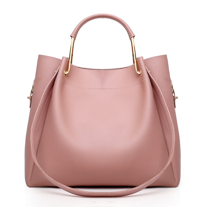 4Pcs Women Pu Leather Handbags Set Bucket Shoulder Bags Casual Tote Bag Female+Chain Women Messenger Bag+Small Clutch Purse Sac