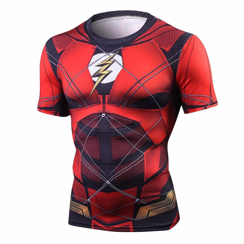 Flash Tshirts Men Compression Shirts Tops The Flash T-shirts Fitness Crossfit Tees Bodybuilding camiseta rashguard 2018