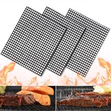 3pcs/set 40*33cm BBQ Meshes Grillmats Grilling&Baking Mats Antique Reusable Grill Mesh Heat Resistant Grid Mat Non-Stick Pad