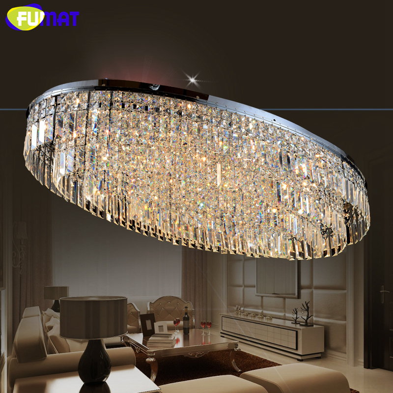 все цены на FUMAT K9 Crystal Chandelier LED Living Room Dining Room Oval Design Modern Lamp Hotel Decor Indoor Lighting LUSTRE Chandelier