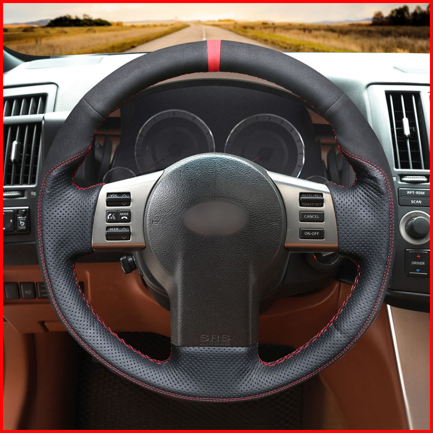 Infiniti Fx For Sale: MEWANT Black Genuine Leather Car Steering Wheel Covers For