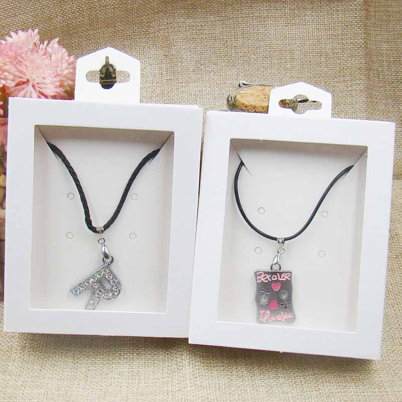 500pcs white Window Box 500 inner card Jewelry necklace Earring Bracelet Ring Gift Boxes white handmad