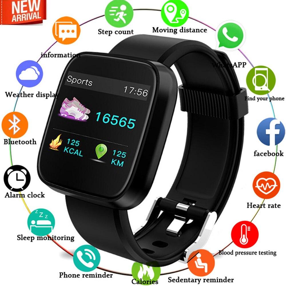 Nouveau Bracelet intelligent 1.3 pouces grand écran couleur montre intelligente multi-fonction surveillance du sommeil Bluetooth sport cadeau Q18