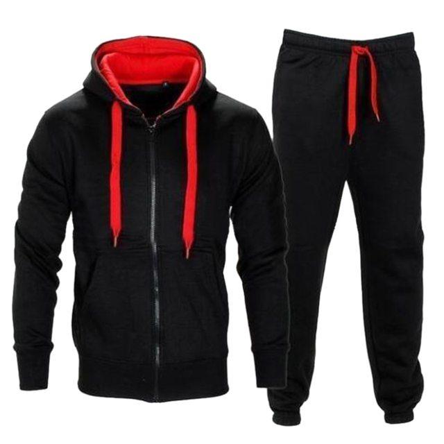 Vertvie 2018 Autumn Men Sportswear Men's Clothing Set Hoodie+Pant