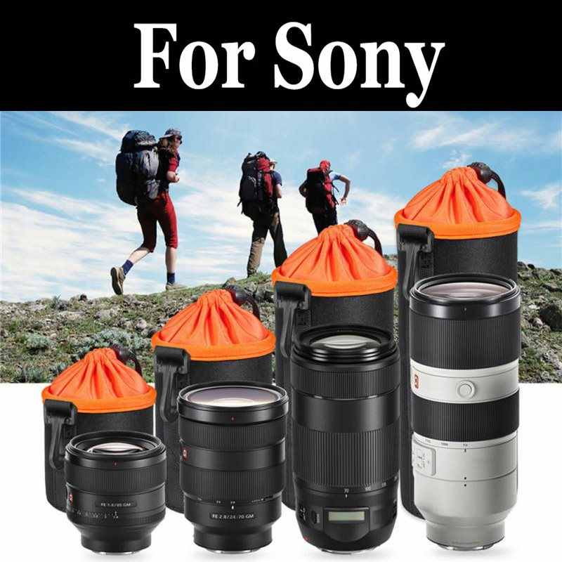 Camera Dikke Lens Pouch Case Pluche Cover Waterdichte Koord Voor sony SD15 A6000 a6300 a6400 a6500 a7 a7R a7S a9 a99 II III