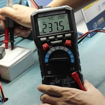 Digital Mulmeter LCD Display Tester Meter Mini Multimetro DC AC Voltage Current Resistance Diode Tempeature Automatic Multimeter
