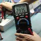 Multímetro Digital medidor LCD automático Mini multímetro CC voltaje de CA resistencia de corriente de diodo multímetro de temperatura
