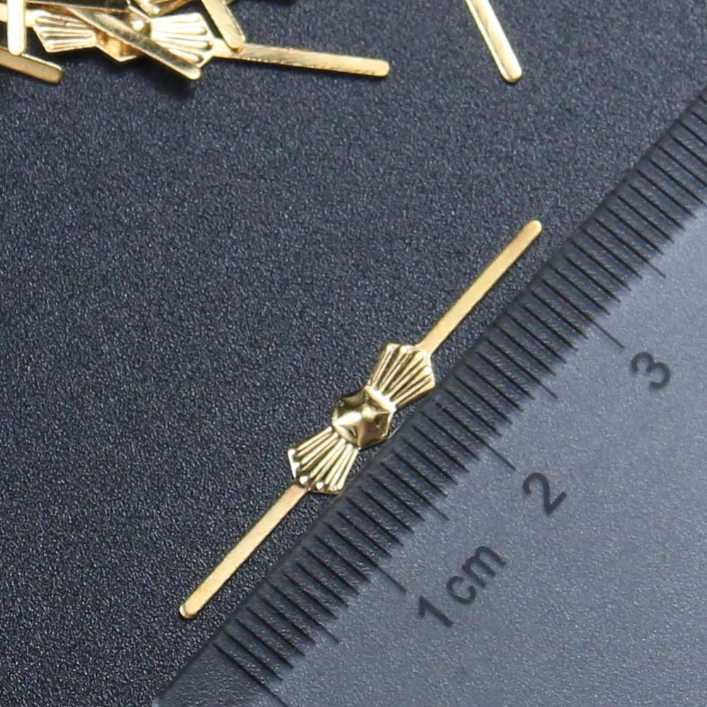 100 33mm Bronze Chandelier Parts Lamp Crystal Prism Bead Connector Pins Bowtie