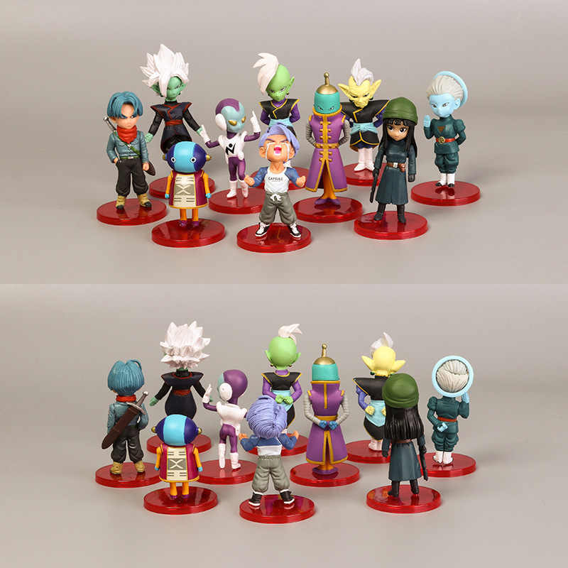18 animação Periférica Dos Desenhos Animados Dragon Ball Mão Modelo Boneca Brinquedos Micro Paisagem Brinquedos de Exibição