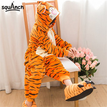 Kids Onesie Boys Girl Cartoon Tigger Pajama Animal Tiger Party Suit Lovely Funny Sleepwear Winter Children