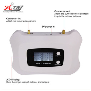 Image 4 - 2020 Full Intelligent LCD display 3G 2100MHz signal Repeater cellular signal booster amplifier work for Russia..etc Asia,Europe