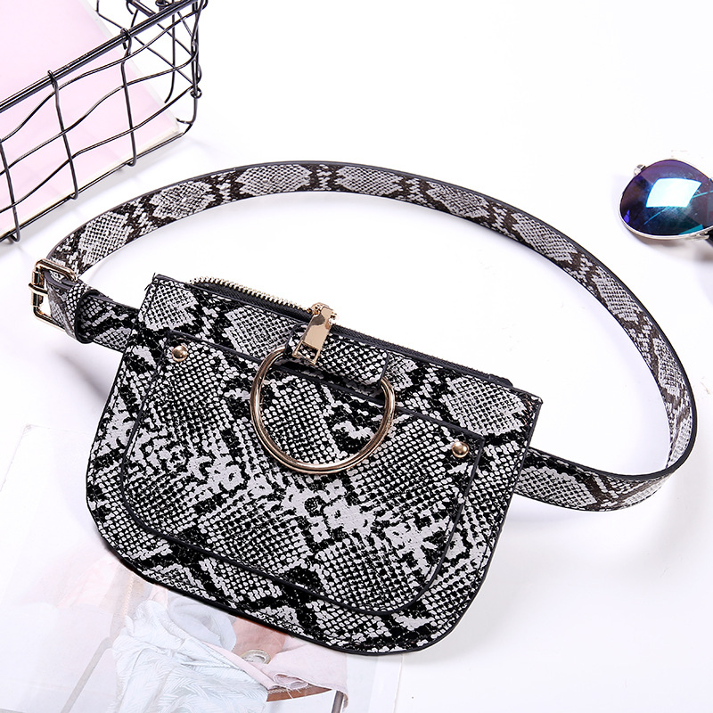 Haft moon women Bags Waist bag Unisex sport serepentine bag PU mini For Phone Female Belt Coin Wallet Purse sac a main