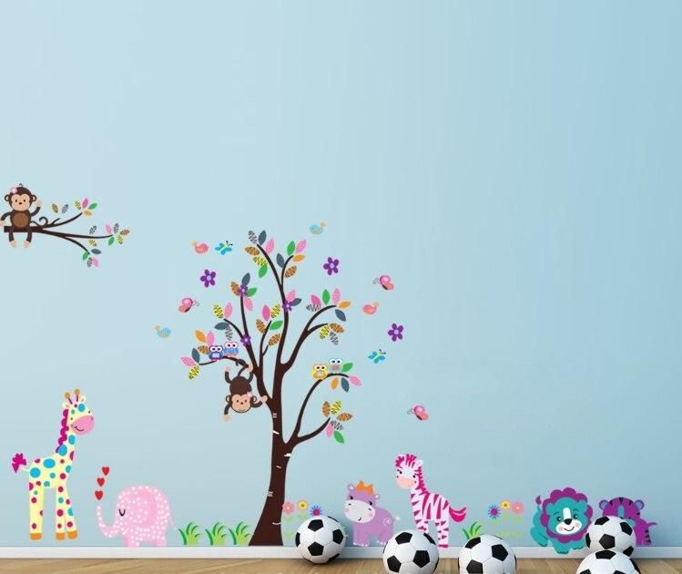 envo gratis nuevo diseo de pared de vinilo pegatinas de rboles y monos de color de