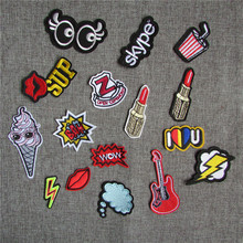 1pcs sell multiple style select hot melt adhesive applique embroidery patch DIY clothing accessory patch C413-C431