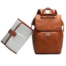THINKTHENDO Premium yeni büyük kapasiteli annelik Nappy bebek bezi çantaları PU deri mumya seyahat sırt çantası çok fonksiyonlu organizatör