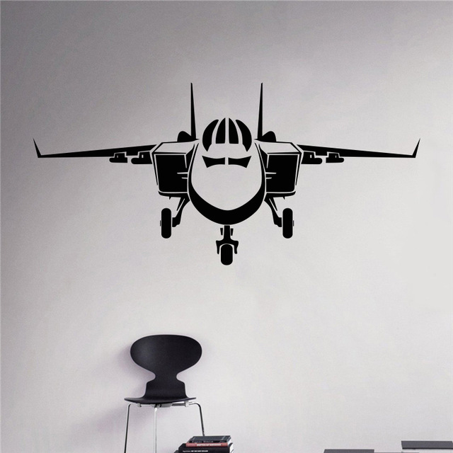 Fighter aviation vinyl decal air force wall sticker for Decor 6 air force