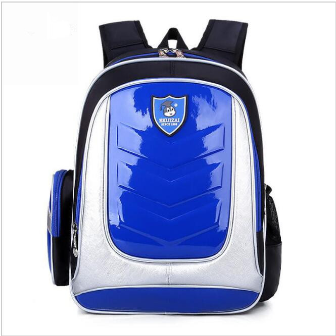 New 2016 Leather Backpack Orthopedic School bags For Boys/girl PU Waterproof Backpack Child Kids School bag