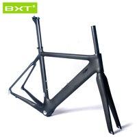 BXT 2016 T800 Full Carbon Frame Barrel Axle Road Bike Frame Fork Size 490mm 700c Wheels