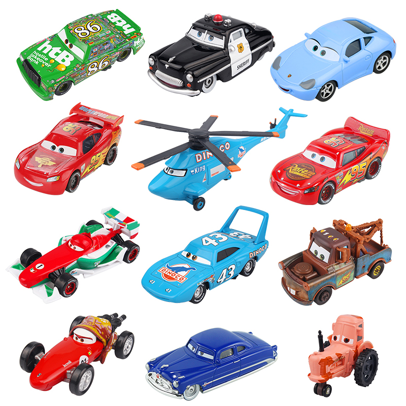 Disney Pixar Cars 2 3 Rrufeja McQueen Jackson Storm Doc Hudson Mater - Makina lodër për fëmije - Foto 2