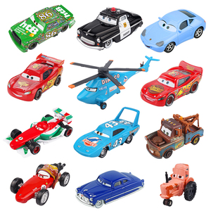 Disney Pixar Cars 2 3 Lightning McQueen Jackson Storm Doc Hudson Mater 1:55 Diecast Metal Alloy Model Car Birthday Gift Boy Toys(China)