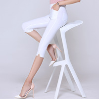 Lato Kobiet Elastyczna Wysoka Talia Capris Legginsy Cukierki Kolor Casual Skinny Ołówek Spodnie Wygodne Kobiet Legginsy