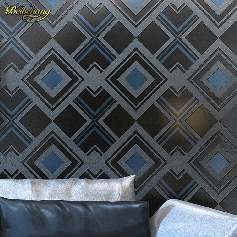 beibehang 3D personalized diamond pattern non woven high foaming characteristics of the living room sofa TV background wallpaper lehiste bibliotheca phonetica some acoustic characteristics of dysarthric speech