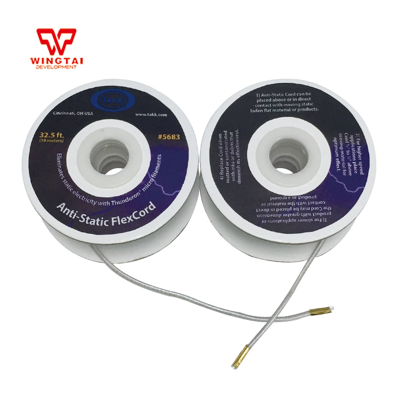 10m/roll 5683# TAKK Anti-Static FlexCord Stretchable Rope Static Eliminators For Paper Folders and Winding original ijoy saber 100 20700 vw kit max 100w saber 100 kit with diamond subohm tank 5 5ml