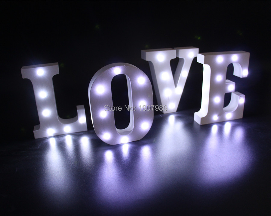16cm 62 white wooden letter led marquee sign alphabet light up night light indoor wall