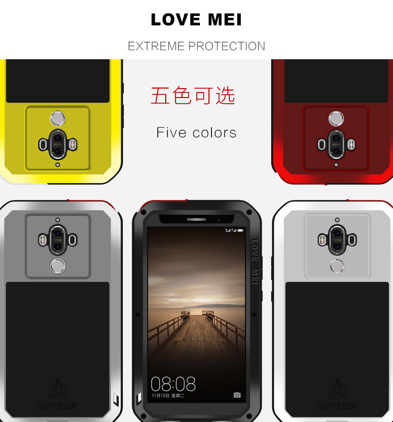Image 4 - For Huawei Mate 9/Mate 9 Pro Case LOVE MEI Shock Dirt Proof Water  Resistant Metal Armor Cover Phone Case for Huawei Mate 9 Prophone  casescase for huaweicase for