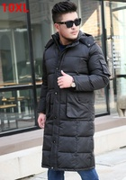 The winter jacket code knee Clubman tall X LONG fat suit long cold air defense down jacket men