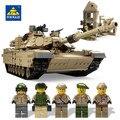 New1463pcs KY10000 Военный Танк 1:28 M1A2 Abrams MBT деформации Hummer модель армии солдат цифры игрушки совместимость leg0