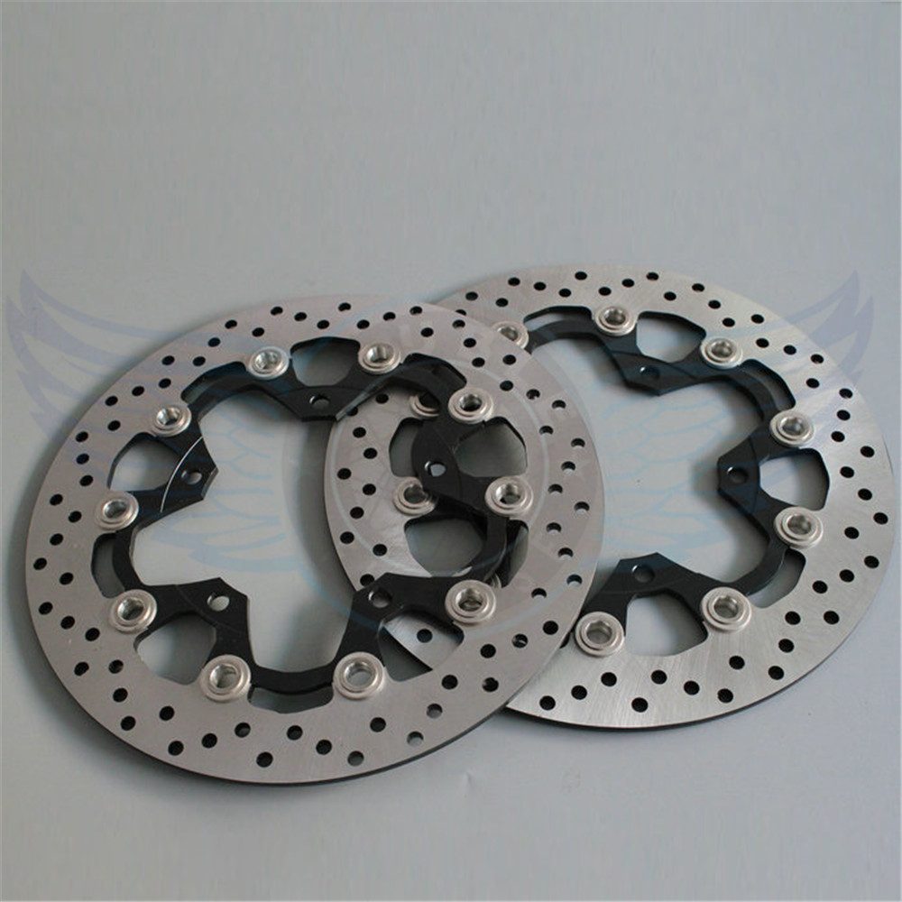 Motorcycle alloy inner ring & Stainless steel outer ring front Brake Disc Rotor For SUZUKI GSF650 BANDIT ABS/NON 2007 2008 2009 new arrival 2 pieces motorcycle accessories front brake discs rotor for suzuki gsf650 bandit abs non 2007 2008 2009