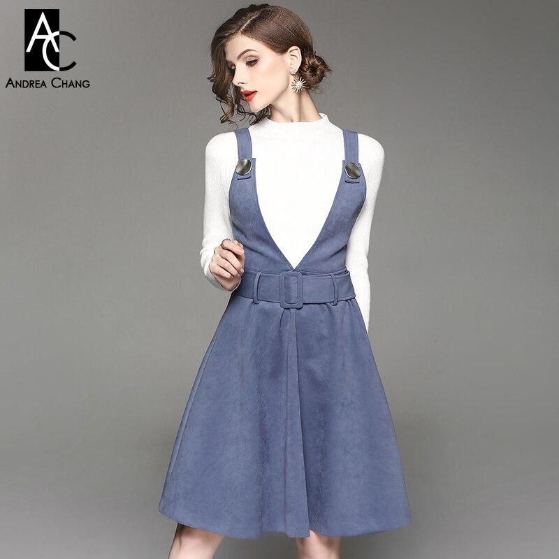 Outfit vestido azul rey invierno