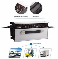 48V 18A 1200W lead acid battery charger for AGV car/forklifts/golf cart with LED Display