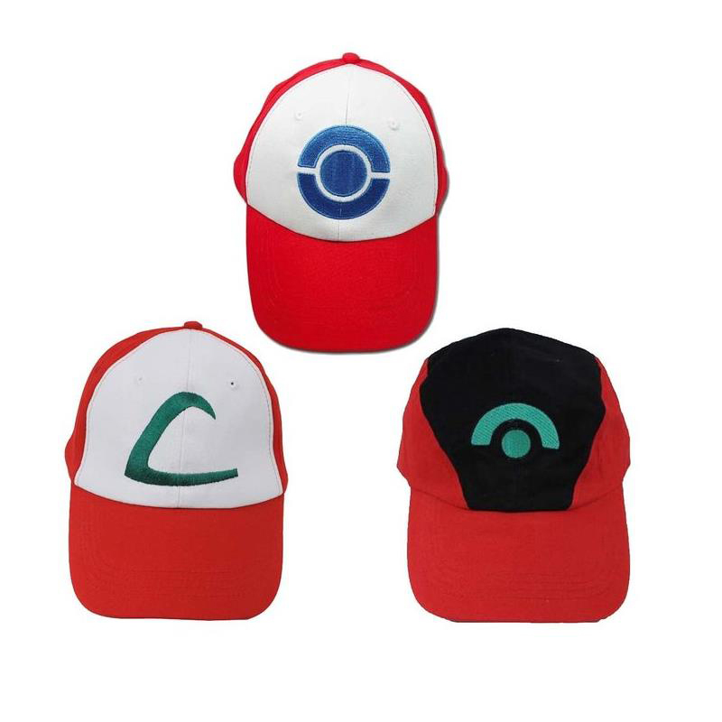 Pokemon Ash Hat Ketchum Game Cosplay Costume Pokemon Hat Visor Cap Set for  Adult 3 Styles c98206a01ead