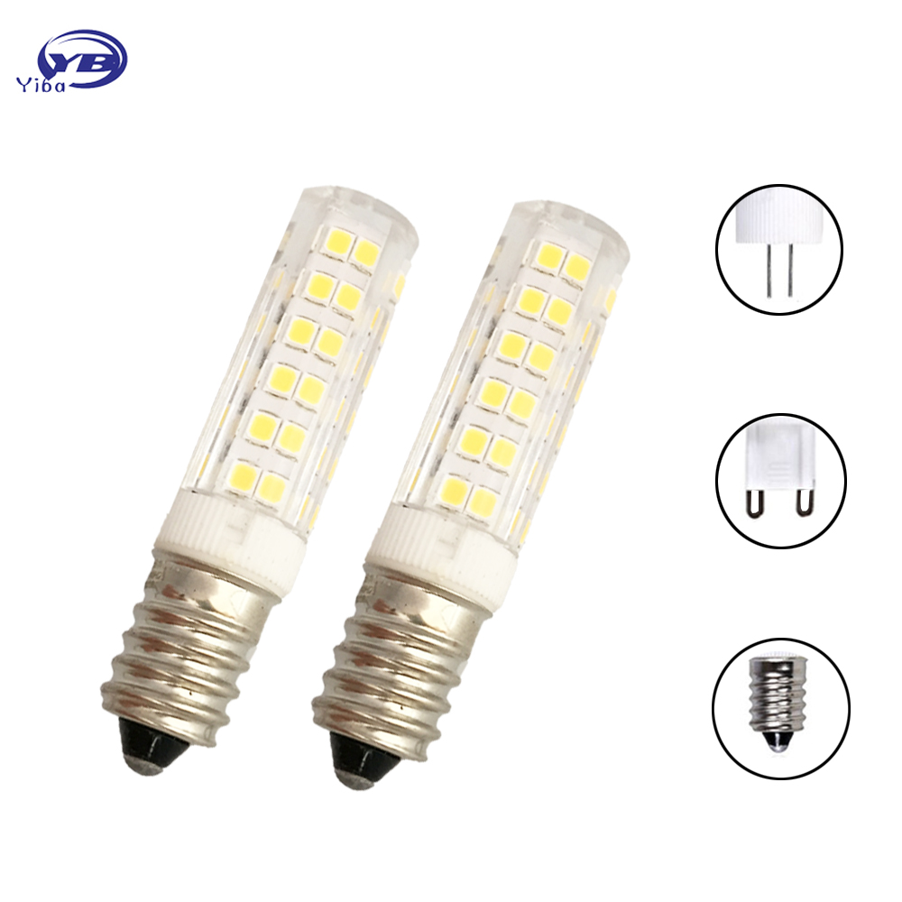 YB yiba E14 G4 G9 LED Lamp Bulb AC 220V 35leds 51leds 76leds 2835 SMD Ceramic LED Light Bulb replace Halogen G9 for Chandelier