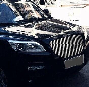 Araba Aksesuarları Paslanmaz çelik ön Izgara Etrafında Trim Yarış Izgaralar Trim Araba Styling Için Fit LIFAN X60 2012-2013